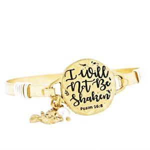 Will Not Be Shaken Psalm 16:8 Charm Bracelet